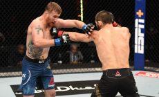 Джастин Гейджи на UFC 254 продержался против Хабиба всего 6 минут, видео